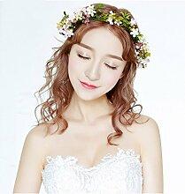 &Kopfbedeckungen Braut Kopfschmuck Simulierte Girlande Heirat Haar Ornamente Foto Hochzeitskleid Zubehör Girlande ( Farbe : 4 )