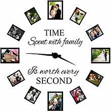 [ Kostenlose Lieferung - 7-12 Tage] Online Zeit mit der Familie ist jeden zweiten Dekoration Wand Aufkleber BML® // Time Spent With Family Is Worth Every Second Decoration Wall Sticker