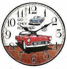[ Kostenlose Lieferung - 7-12 Tage] Weinlese Wanduhr Auto Rustic Home Office Cafe Bar Dekoration Kunst BML® // Vintage Wall Clock Car Rustic Home Office Cafe Bar Decoration Ar