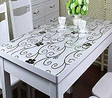 *Küchenwäsche PVC-wasserdichte Tischdecke Anti-heiße weiche Glas-Tischdecke Plastik Tischdecke-Tischauflage-Auflage-transparente wolkige Kristall-Platte ( größe : 90*160cm )