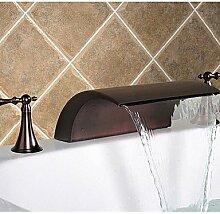 ?l eingerieben Bronze verbreitet Wasserfall Waschbecken Wasserhahn
