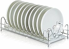 &Lagerregal Küche Schüssel Regal 304 Edelstahl Single Layer Schüssel Regal Drain Rack Platte Rahmen Stäbchen Air Put Regal 43,5 * 20 * 10 Finishing-Rack ( größe : 43.5*20*10 )