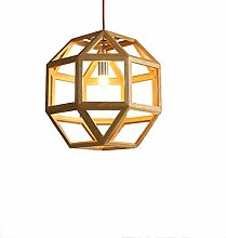 %Lampe Holz Kronleuchter, einfache Massivholz