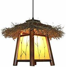 %Lampe Massivholz Kronleuchter, Garten Licht