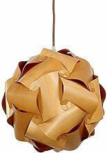 %Lampe Massivholz Kronleuchter, Log Farbe