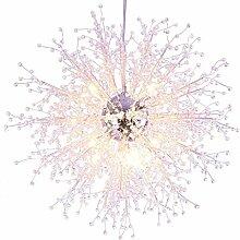 %Lampe Moderne Löwenzahn Kristall Kronleuchter