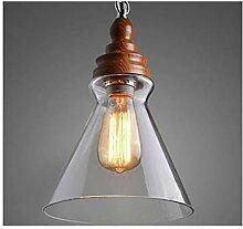 %Lampe Pendelleuchte einfaches Glas Schmiedeeisen