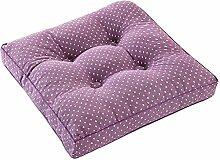 [Lila punkt] Square Sitz Kissen Boden Kissen Verdickte Stuhl Pad Tatami