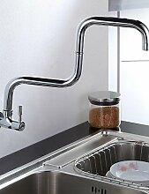 *-* Moderne Chrom-Finish Ein Loch Einhand-Küchenarmatur