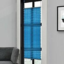 [neu.haus] Klemmfix Plissee (75 x 200 cm) (türkis) - Sonnen- und Lichtschutz - blickdicht (Bohren entfällt)