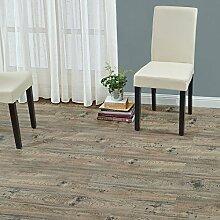 [neu.haus] Laminat Vinyl-Boden Eiche antik 1m² - PVC-Design-Bodenbelag mit gefühlsechter Holz-Struktur stark strukturiert Planken zum Kleben - 4 Dekor Dielen = 1,114 qm