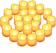 【Neujahr Deko】ORIA 24 Flammenlose Kerzen, LED