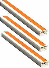 (Pack Of 3) X Klappdeckel weiß Kabelkanal selbstklebend PVC 12mm x 7mm x 1meter