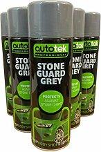 (Pack von 3) 500ml Autotek Stone Guard grau