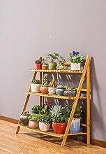 &Pflanzenregale Blumenständer Holz mehrschichtige