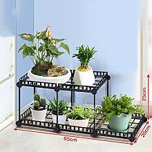 &Pflanzenregale Multilayer Flower Racks, Balkon Pflanze Regale Multifunktions-Blumentopf Rack Floor Style Regal Dekorative Blumentöpfe ( größe : 65*20*25CM )
