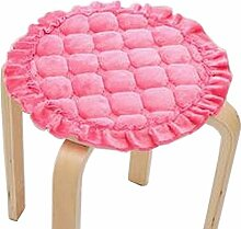 [Pink] Plüsch Runde Hocker Abdeckung Hocker Kissen Bar Hocker Matte