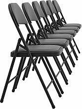 [pro.tec] 6x Besucherstühle (grau - gepolstert)(im Sparpaket) Konferenzstuhl / Stuhl / Bürostuhl / Stuhl / Wartezimmer - Stuhl