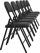 [pro.tec] 6x Besucherstühle (schwarz - gepolstert)(im Sparpaket) Konferenzstuhl / Stuhl / Bürostuhl / Stuhl / Wartezimmer - Stuhl