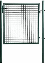 [pro.tec] Gartentor verzinkt (150x106cm) grün - inklusive Schloss und 3 Schlüsseln - Gartenpforte