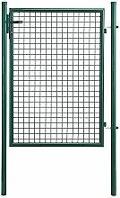 [pro.tec]® Gartentür 175x106 grün Gartentor Zauntür Gartenpforte Gartenzaun Tür