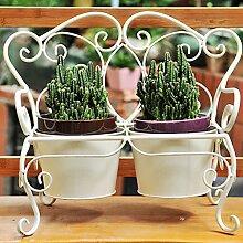$Regal Blumen-Stand-Schmiedeeisen-Blumen-Stand-Weinlese-altes kleines Topf-Gestell ( Farbe : A )