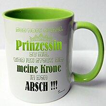 ★★Riesen Auswahl★★ Tasse Spruch Motive Fun Premium Geschenk Keramik, Original Sunnywall ® Geschenkidee (41 Prinzessin Krone)