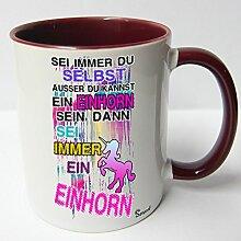 ★★Riesen Auswahl★★ Tasse Spruch Motive Fun Premium Geschenk Keramik, Original Sunnywall ® Geschenkidee (33 Sei Einhorn)