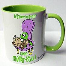 ★★Riesen Auswahl★★ Tasse Spruch Motive Fun Premium Geschenk Keramik, Original Sunnywall ® Geschenkidee (25 Bücherwurm)