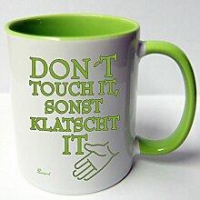 ★★Riesen Auswahl★★ Tasse Spruch Motive Fun Premium Geschenk Keramik, Original Sunnywall ® Geschenkidee (38 klatscht it)