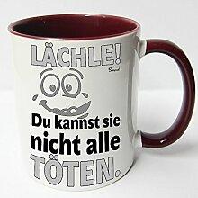 ★★Riesen Auswahl★★ Tasse Spruch Motive Fun Premium Geschenk Keramik, Original Sunnywall ® Geschenkidee (51 lächle töten)