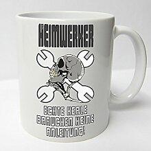 ★★Riesen Auswahl★★ Tasse Spruch Motive Fun Premium Geschenk Keramik, Original Sunnywall ® Geschenkidee (28 Heimwerker)