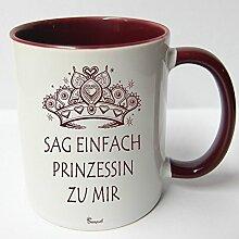 ★★Riesen Auswahl★★ Tasse Spruch Motive Fun Premium Geschenk Keramik, Original Sunnywall ® Geschenkidee (37 Sag Prinzessin)