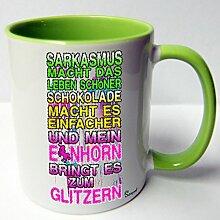 ★★Riesen Auswahl★★ Tasse Spruch Motive Fun Premium Geschenk Keramik, Original Sunnywall ® Geschenkidee (34 Einhorn Sarkasmus)