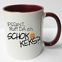 ★★Riesen Auswahl★★ Tasse Spruch Motive Fun Premium Geschenk Keramik, Original Sunnywall ® Geschenkidee (45 Schokokeks)
