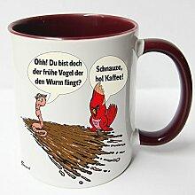 ★★Riesen Auswahl★★ Tasse Spruch Motive Fun Premium Geschenk Keramik, Original Sunnywall ® Geschenkidee (50 frühe Vogel)