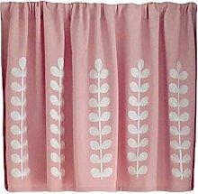 [Rosa Blätter] Kurze Küche Stoff Vorhang Kleine Fenster Halbe Vorhang Cafe Vorhang