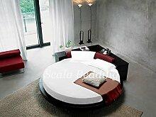 - rund Bettlaken Bettwäsche SCALABEDDING 100% ägyptische Baumwolle 400TC King Durchmesser 96cm SSD weiß
