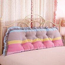 & SFKZ @ - Baumwolle Korean Bett Sofa große Kissen Baumwolle doppelte lange Kissen Kissen Korean Bett Kopf große Rückenlehne