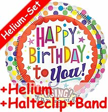 * SINGENDES * Folienballon Set * HAPPY BIRTHDAY TO