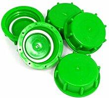 - SONDERAKTION- CMS196GR Verschlusskappen 5er - Set, IBC-Container-Zubehör-Regenwasser-Tank-Adapter-Fitting-Kanister