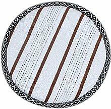 [Streifen] Weiche runde Hockerabdeckung Hocker Kissen Bar Hocker Matte