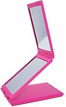 [Sub seitige Make-up Spiegel] Continental tragbaren Tisch mit einem Spiegel Faltung Sorte in den Rückspiegel Double-sided Make-up Kosmetikspiegel-D
