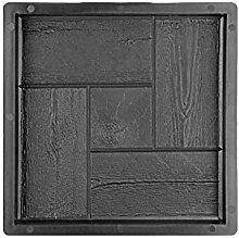 @tec Betonform Schalungsform Gießform Plastikformen für Beton, Terrassenplatte - Trittsteinplatte - Gehwegplatte - Betonplatte - Trittstein, Kachel- & Holzoptik 30x30x3 cm