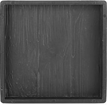 @tec Betonform Schalungsform Gießform Polypropylen (Kunststoff) - Gehwegplatte/Terrassenplatte Trittstein Holzoptik - 30 x 30 x 3 cm