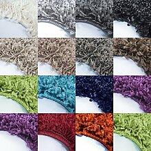 *Teppich* für Wohnzimmer günstig hochflor Shaggy Teppich mit verschiedenen Farben und Größen* Teppiche werden mit 100% PP Headset hergestellt. Gesamthöhe des Teppichs circa 30 mm. , Größe:80x150 cm, Farbe:Creme