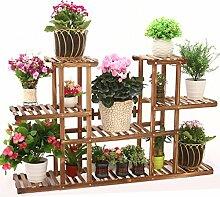 $Töpfe Pflanz Hölzerne Blumenregal, Massivholz mehrstöckigen Pflanze Rahmen Windowsill, Blumentöpfe Holzrahmen, Balkon Bonsai-Rahmen,