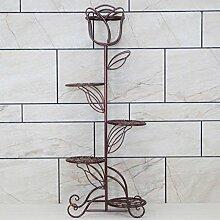 $Töpfe Pflanz Iron Flower Pot Rack, 3-5 Tier Pflanze Display Stand Bonsai Holder Haus Garten Patio Decor Regal hält ( Farbe : Weinrot , größe : 40*109cm )