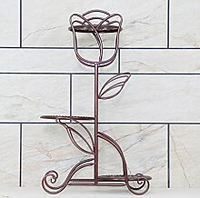 $Töpfe Pflanz Iron Flower Pot Rack, 3-5 Tier Pflanze Display Stand Bonsai Holder Haus Garten Patio Decor Regal hält ( Farbe : Weinrot , größe : 40*69cm )
