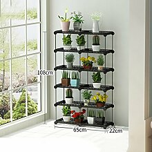$Töpfe Pflanz Multilayer Flower Racks, Balkon Pflanze Regale Multifunktions-Blumentopf Rack Floor Style Regal ( größe : 65*22*108CM )